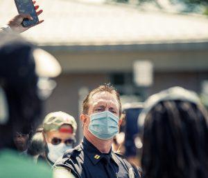 Police Officer Talking